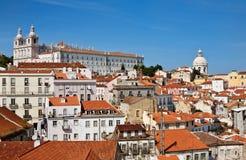 Alfama, vecchia parte di Lisbona Fotografia Stock Libera da Diritti