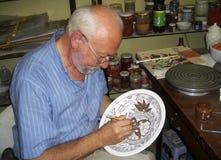 Alfarero de Iznik Foto de archivo libre de regalías