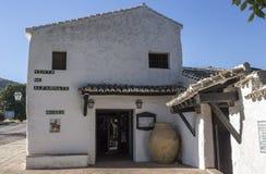 Alfarnate hosterly, o active andaluz o mais velho da pensão, Malaga, Sp Fotos de Stock