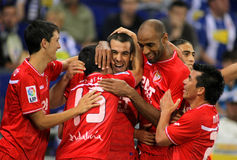 Alfaro, Negredo, Kanoute and Medel of Sevilla Stock Image