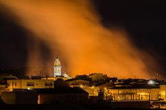 Alfarp fire near the City Royalty Free Stock Images