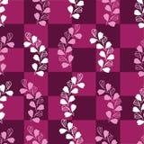 Alfazema-amor abstrato em Parise Seamless Repeat Pattern no fundo marrom Claro - cores do rosa e as brancas ilustração royalty free