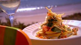 Alfesco het Dineren stock videobeelden