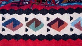 Alfombra étnica búlgara tradicional del ornamento Foto de archivo