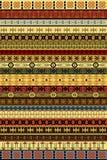 Alfombra étnica con adornos africanos ilustración del vector