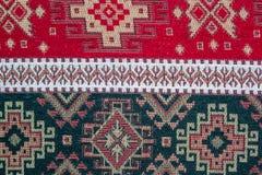 Alfombra étnica turca de Anatolia, Kilim como mantel Imagen de archivo libre de regalías