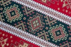 Alfombra étnica turca de Anatolia, Kilim como mantel Foto de archivo libre de regalías