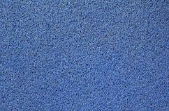 Alfombra azul del pie Imagen de archivo