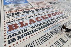 Alfombra de la comedia en el lancashire de Blackpool, Reino Unido Fotos de archivo libres de regalías