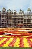 Alfombra de la flor de Bruselas Foto de archivo libre de regalías