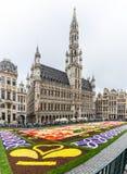 Alfombra 2016 de la flor en Bruselas Fotos de archivo