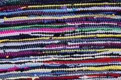 Alfombra de trapos coloreados Imagen de archivo libre de regalías