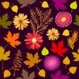 Alfombra floral de octubre ilustración del vector