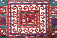 Alfombra hecha a mano de Azerbajan fotografía de archivo libre de regalías