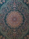 Alfombra persa de la turquesa de Royal Palace imagenes de archivo
