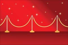 Alfombra roja Imagen de archivo libre de regalías