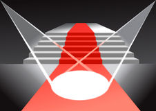 Alfombra roja Foto de archivo libre de regalías