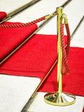 Alfombra roja Fotografía de archivo libre de regalías