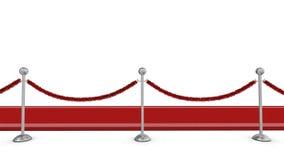 Alfombra roja con la barrera de la cuerda Fotografía de archivo libre de regalías