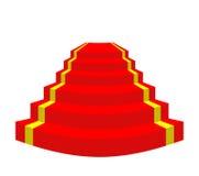 Alfombra roja en un fondo blanco Escaleras para el VIP Illustr del vector Imagen de archivo