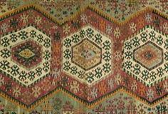 Alfombra turca hecha a mano tradicional Imágenes de archivo libres de regalías
