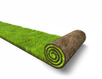 Alfombra verde stock de ilustración