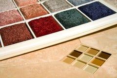 Alfombra y azulejo Imágenes de archivo libres de regalías