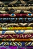 Alfombra y manta Imagen de archivo libre de regalías