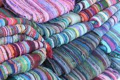 Alfombras coloridas Fotos de archivo libres de regalías