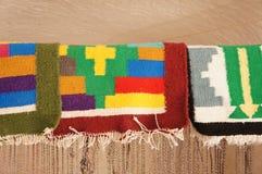 Alfombras coloridas tunecinas hechas a mano Imagen de archivo libre de regalías
