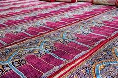 Alfombras del rezo de la mezquita foto de archivo libre de regalías