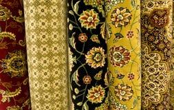 Alfombras persas en la visualización Foto de archivo
