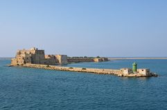 Alfonsino Castle in the port of Brindisi in Italy. Alfonsino Castle on the old pier of the port of Brindisi. Puglia region, southern Italy royalty free stock photos