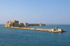 Alfonsino Kasteel in de haven van Brindisi in Italië Royalty-vrije Stock Foto's