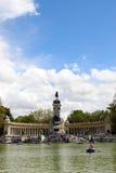 Alfonso的马德里纪念碑XIII 库存照片