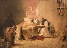 Alfonso X Castile śmierć zdjęcie stock