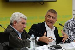 Alfonso Pecoraro Scanio e Francesco Petretti Royalty Free Stock Photo