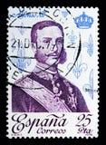 Alfonso serie de XII, de direitos & de monarquia, cerca de 1978 Fotos de Stock