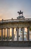 Alfonso XII monument in Buen Retiro park, Madrid royalty free stock photos