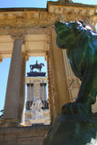 Alfonso XII monument Madrid in Retiro park Royalty Free Stock Photo