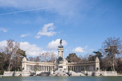 Alfonso XII statue on Retiro Park in Madrid. Stock Photo