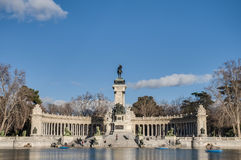Alfonso XII statue on Retiro Park in Madrid. Royalty Free Stock Photos