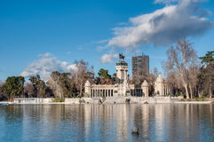 Alfonso XII statue on Retiro Park in Madrid. stock images