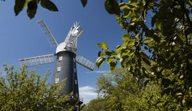 Alford, Lincolnshire, Reino Unido, em julho de 2017, opinião Alford Windmill foto de stock royalty free