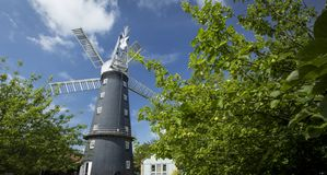 Alford, Lincolnshire, United Kingdom, July 2017, View of Alford Windmill royalty free stock photography