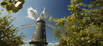 Alford, Lincolnshire, United Kingdom, July 2017, View of Alford Windmill stock photos