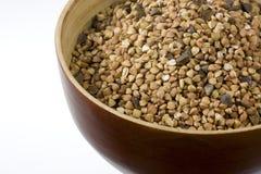 Alforfón (kasha), grano entero tostado Foto de archivo