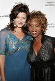 Alfre Woodard and Daphne Zuniga. At the Archbishop Desmond Tutu`s 75th Birthday Party held at the Regent Beverly Wilshire Hotel in Beverly Hills, USA on Royalty Free Stock Image