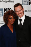 Alfre Woodard, Michael Fassbender. NEW YORK- OCT 8: Actors Alfre Woodard and Michael Fassbender attend the 12 Years A Slave premiere at the New York Film Royalty Free Stock Images