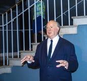 Alfred Hitchcock en museo de la cera de señora Tussaud Londres Reino Unido Imagen de archivo libre de regalías